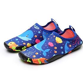 Giày đi biển, đi nước trẻ em, chơi các trò vận động, đế không trơn trượt, bảo vệ chân, nhẹ, mềm, nhanh khô, màu xanh họa tiết sinh vật đại dương - SK028