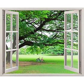 Tranh dán tường cửa sổ 3D VTC cảnh đẹp thiên nhiên VT0159