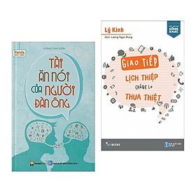 Combo 2 cuốn sách kĩ năng: Tài Ăn Nói Của Người Đàn Ông + Giao Tiếp Lịch Thiệp Chẳng Lo Thua Thiệt ( Tặng kèm Bookmark Happy Life)
