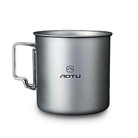 AOTU Titanium Pot Singles Layer Pure Titanium Water Cup Outdoor Portable Camping Mug Camping Titanium Cup