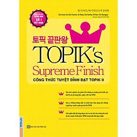 Topik'S Supereme Finish Công Thức Tuyệt Đỉnh Đạt Topik Ii