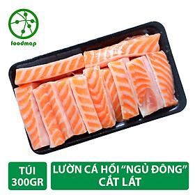 """Lườn Cá Hồi Nauy Cắt Lát """"Ngủ Đông"""" - Túi 300Gr - Foodmap"""