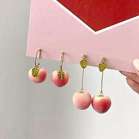 Bông tai hình trái đào xinh xắn