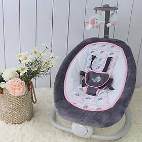 Ghế rung cao cấp cho bé gập gọn có nhạc Mastela 6917 - Màu hồng