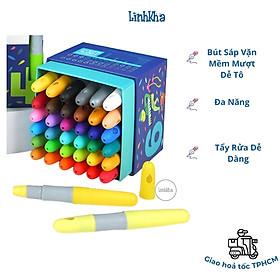 Bút Sáp Vặn Bộ 36 Màu Mềm Mượt - Vẽ Đa Năng Dễ Tẩy Rửa - Mideer silky crayon 36 colours