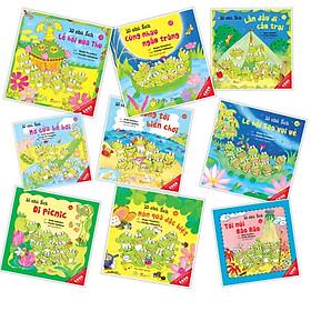 Combo Ehon Nhật Bản 9Q Phần 2 - 10 Chú Ếch ( Ehon Kỹ Năng Sống / Phát  Triển Tâm Hồn, Trí Tuệ & Tư Duy  / cho bé 3-8 tuổi)