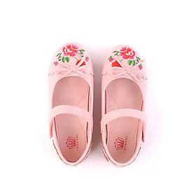 Giày búp bê bé gái Crown Space Crown UK Princess Ballerina CRUK3112 - Màu hồng
