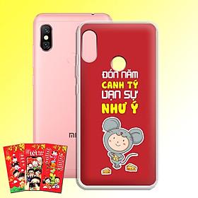 Ốp lưng dẻo cho điện thoại Xiaomi Mi A2 Lite - 01132 7973 HPNY 21 - Tặng bao lì xì Phát Tài Phát Lộc - Hàng Chính Hãng