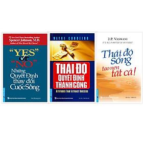 COMBO Sách Tư duy - Sống Đẹp 2 (Những quyết định thay đổi cuộc sống + Thái độ quyết định thành công + Thái độ sống tạo nên tất cả)