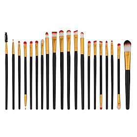 20pcs Eyeshadow Eyeliner Eyebrow Eyelash Brush Lip Contour Brushes Set Kit Eye Makeup Brush Set Pro Foundation Makeup Tools