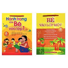 Combo sách chuẩn bị cho bé vào lớp 1: Hành trang cho bé vào lớp 1 và bé vào lớp một + tặng thẻ flashcard