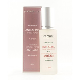 Nước hoa hồng dạng xịt chống lão hóa 100ml  Scentuals  Anti aging Facial toning mist 100ml