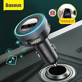 (Tặng túi đựng TOPK)Tẩu sạc nghe nhạc Baseus, bluetooth V5.0, hỗ trợ đọc thẻ TF, cổng USB, AUX audio,…-Hàng chính hãng