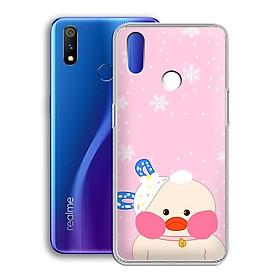 Ốp lưng dẻo cho điện thoại Realme 3 Pro - 01221 7868 DUCK02 - In hình Vịt con đáng yêu - Hàng Chính Hãng