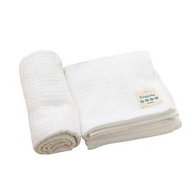 Made in Việt Nam - Set 5 khăn đa năng: Khăn sữa, khăn mặt 100% Cotton cao cấp Comfybaby hàng xuất khẩu - đồ dùng phòng tắm dành cho Mẹ & Bé CF1020-KM01-W kích thước 34x34cm,