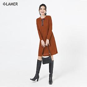 Đầm len suông nơ ruy băng LAMER L63T20T035