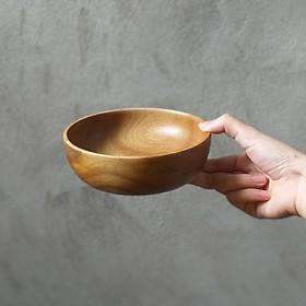 Bát tròn thấp gỗ Keo (15x4cm)