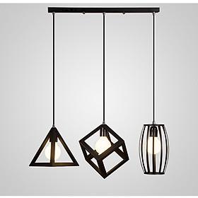 Đèn thả 3 khối hình học đã bao gồm bóng HANBACH