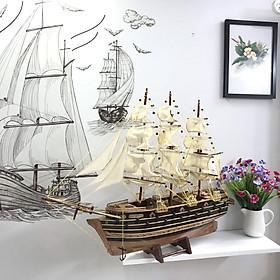 Mô Hình Thuyền Gỗ Chiến Cổ Napoleon (Thân 60cm - Loại 1)