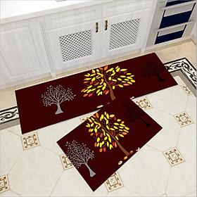 Hình đại diện sản phẩm Bộ 2 thảm trang trí, thảm bếp cao cấp GOO08 (40x60 cm và 40x120 cm)