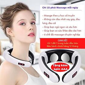 Gối Massage Cổ Vai Gáy Mát Xa Toàn Thân Đa Năng Bằng Xung Điện - Máy Massage Neck Massager - Topbanchaynhat