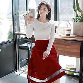 Chân váy xòe dài qua gối sang trọng - nhiều size và màu, form dáng chuẩn, thích hợp mặc đi đi làm, dự tiệc hoặc dạo phố
