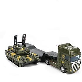 Đồ chơi mô hình xe đầu kéo xe tăng KAVY (gồm 2 xe) nhựa ABS an toàn, kích thước lớn, chi tiết sắc sảo, đẹp
