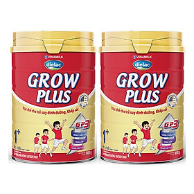COMBO 2 HỘP SỮA BỘT DIELAC GROW PLUS 1+ 900G (CHO TRẺ TỪ 1 - 2 TUỔI)