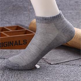 [Thấm hút mồ hôi] Combo 10 đôi tất vớ nam nữ freesize thông hơi khử mùi chống hôi chân mềm mại