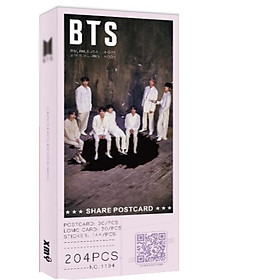 Postcard BTS concept 1 album Map of the Soul 7' tặng vòng tay may mắn