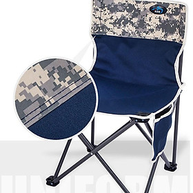 Ghế xếp gấp gọn kèm túi đựng Ghế gấp đi câu cá và đi phượt vải dù khung nhôm cao cấp đế cao su kiểu dáng Quân Đội