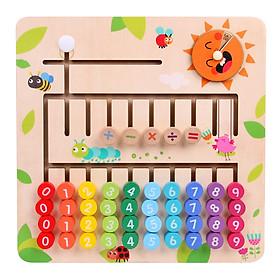 Bảng học toán các phép tính cộng trừ nhân chia bằng gỗ  nhiều màu sắc cho bé vừa chơi vừa học - học bẳng cửu chương trở nên thật dễ dàng