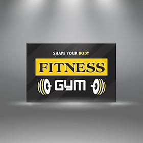 "Tranh Phòng Tập Gym ""Share You Body Fitness Gym"" W399"