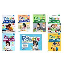 Combo Trọn Bộ sách POMath Toán tư duy cho trẻ em 4 đến 6 tuổi và Bộ Học Liệu Kèm Sách POMath - Học Toán Qua Trò Chơ(Tặng kèm bút chì Kingbooks)
