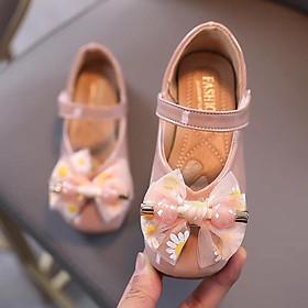 Giày búp bê bé gái 2 hột chuỗi