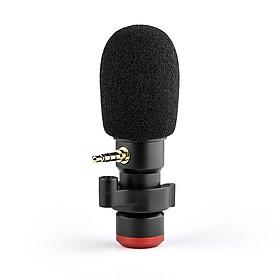 Andoer MIC06 Mini Plug-in Smartphone Microphone Mic 3.5mm TRRS Plug for Smartphone Video Recording Live   Broadcast