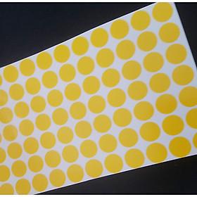 100 Tem màu dán tròn không thấm nước 2cm giấy nhiều màu, tem đánh dấu theo loại, tem dán hộp sản phẩm, tem nhãn