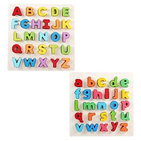 Combo 2 bảng chữ tiếng anh in thường và in hoa Vivitoys dành cho bé