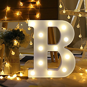 Siaonvr Remote control Alphabet Letter Lights LED Light Up White Plastic Letters Stand A