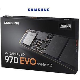 Ổ cứng gắn trong SSD Samsung 970 EVO 500GB M.2 PCIe Gen 3×4 - Hàng Nhập Khẩu