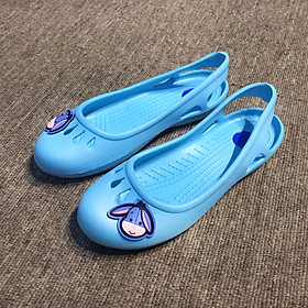 Giày nhựa Thái Lan cho bé gái siêu nhẹ rất êm chân màu xanh biển Blue BC310