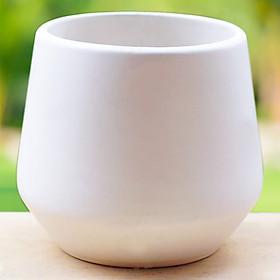 Chậu Gốm Sứ Kim Cương (9 x 9 cm) - Trắng