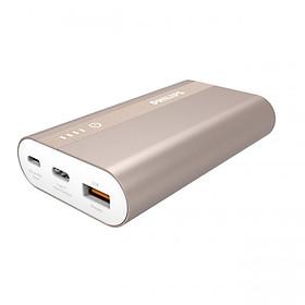 Pin sạc dự phòng Philips DLP2101QBK 10000mAh tích hợp cổng USB-C - Hàng Chính Hãng