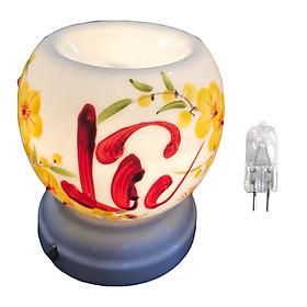 Đèn xông tinh dầu chữ Lộc đồ trang trí quà tặng phong thủy tặng kèm 1 bóng đèn