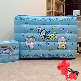 Bể bơi phao trẻ em  KT 120*90*75 cm loại thành cao 75cm (Tặng bơm điện)