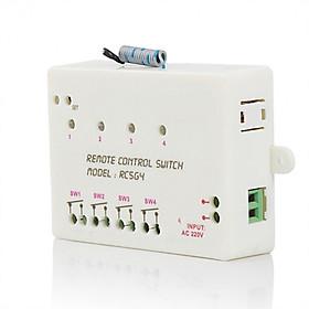 Công tắc điều khiển từ xa bật tắt cho bốn thiết bị ( TẦN SỐ THU SONG 315Mhz, ĐIỆN ÁP 22OV ) - Tặng kèm 02 nút kẹp cao su giữ dây điện