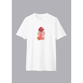 Áo T-shirt Unisex Paris N5 Dotilo D910 - Trắng