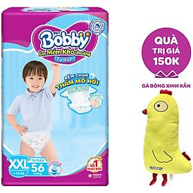 Tã Dán Bobby - Đệm Thun Thấm Mồ Hôi XXL56 (56 Miếng) - Tặng 1 Gà Bông Xinh Xắn