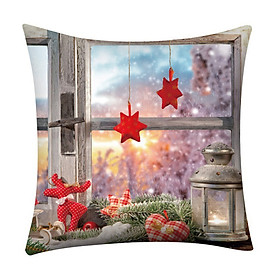 Linen Christmas pillow case Square Throw Cushion Cover Single-sided Printe For Home Office Sofa Car 2019 Xmas Pillowcase