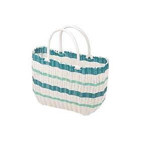 Giỏ dệt đựng đồ dã ngoại Pearl Life Nhật Bản - S/ xanh dương